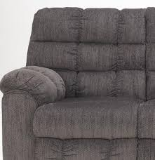 Fabric Recliner Sofa by Acieona Contemporary Slate Fabric Reclining Sofa W Drop Down Table