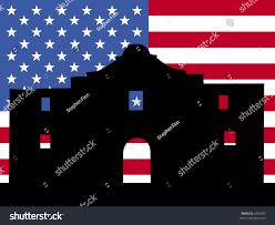 Alamo Flag Alamo San Antonio American Flag Illustration Stock Vector 6799003