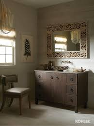smoky travertine bathroom kohler ideas