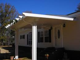 Mobile Home Carport Awnings Mobile Home Patio Roof 45 Great Manufactured Home Porch Designs