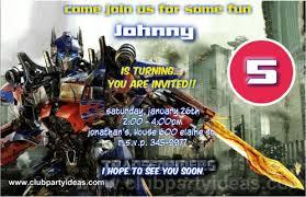 optimus prime birthday party transformers birthday invitations printable free clubpartyideas