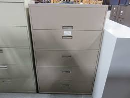 Steelcase Lateral File Cabinets Steelcase 5 Drawer Lateral File Cabinet Office Barn