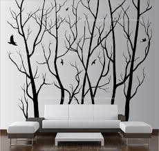 large wall decor vinyl tree forest decal sticker choose size