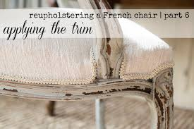 Recovering An Armchair Reupholstering A French Chair Part 6 Attaching The Trim Youtube
