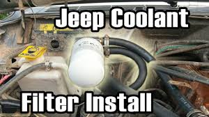 cartoon jeep cherokee 89 cherokee diy coolant filter install youtube