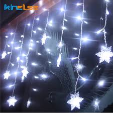 snowflake string of lights new 3 5m led curtain snowflake string light fairy lights 8modes