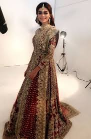 bridal wear sadaf kanwal wearing heavypakistani bridal wear asian fashion