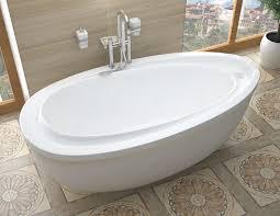 renoir 38x71 in freestanding soaker bathtub white