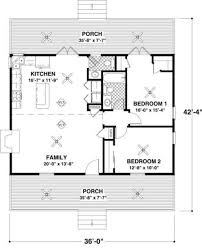2 Bedroom Floor Plans by Cottage 2 Beds 1 5 Baths 954 Sq Ft Plan 56 547 Main Floor Plan