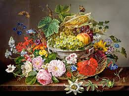 flowers and fruit puzzle still with flowers and fruit basket castorland 200658