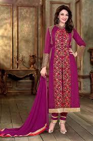 buy saumya tandon purple color georgette designer suit online