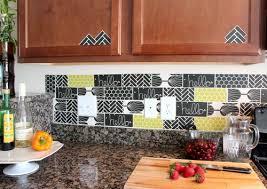 kitchen decals for backsplash learn how to create a renter friendly faux tile kitchen backsplash