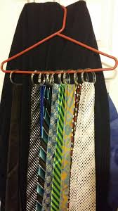 How To Hang Scarves On Curtain Rods by Use A Hanger And Shower Curtain Rings To Hang Ties And Scarves
