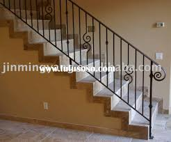 Metal Banister Spindles Interior Wrought Iron Stair Handrail Metal Stair Handrail