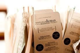 Kraft Paper Wedding Programs Wedding Invitation Inspiration Ceremony Program Handmade Weddings