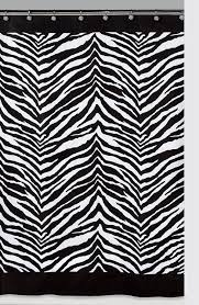 Black And White Zebra Curtains For Bedroom Amazon Com Creative Bath Products Inc S1050bw Zebra Shower