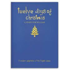 the personalized twelve days of book hammacher schlemmer