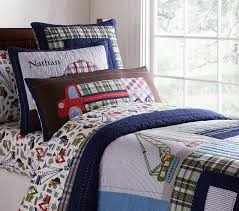 busy builder quilt pottery barn kids