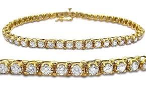bracelet gold diamond tennis images 3 50ct round diamond tennis bracelet 14k yellow gold front jeweles jpg