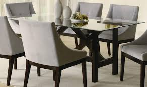Modern Glass Dining Table Set Chair Glass Rectangular Dining Table Chairs To Match Modern Style