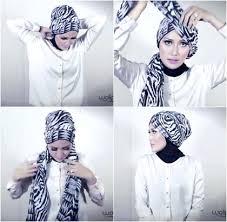 video tutorial turban style hijab tutorial simple turban style with motif scarf hijab fashion