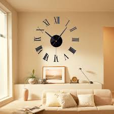 metal large wall clock numbers 50cm home decor vintage diy does not apply