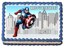 captain america cake topper captain america image edible cake topper decoration ebay