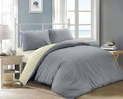 Chambray Duvet Jakarta Woven Chambray Striped And Check 100 Cotton Reversible
