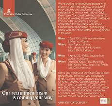 Emirates Recruitment Jakarta 2017 | emirates indonesian cabin crew recruitment april 2013 forum pramugari