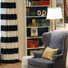 Black And White Curtain Designs Horizontal Striped Curtains Design Ideas