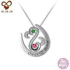 Customized Birthstone Necklace Online Get Cheap Personalized Birthstone Necklace Aliexpress Com