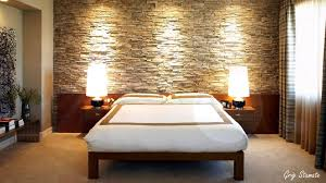 Inspiring And Earthy Bedroom Accent Wall With Sandstone Walls - Creative ideas for bedroom walls