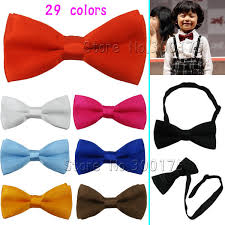 sale etd children toddlers solid bow ties boys bowtie