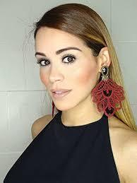 Long Chandelier Earrings Dangle Earrings Burgundy Chandelier Earrings Big Earrings Lace Earrings Dangle
