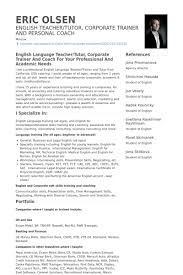 Teacher Resume Templates Word Teacher English Resume Format Cv English Resume Format Word