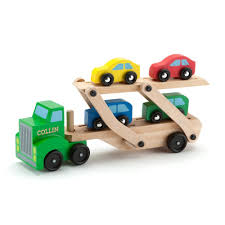 car carrier truck melissa u0026 doug car carrier truck u0026 cars wooden toy set lazada