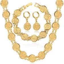 earrings necklace bracelet images Dubai gold jewelry sets necklace bracelet earrings for women jpg