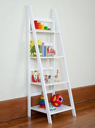 Narrow Black Bookcase by Furniture Black Leaning Bookcase Bookshelf Ladder Leaning