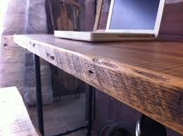 Large Wooden Desk Buy A Hand Crafted Industrial Salvaged Wood Desk Made To Order