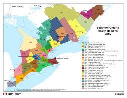 World Map Regions by 7 Ontario Health Units U2013 Southern Ontario Health Regions 2015