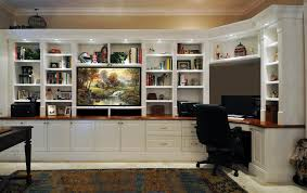 Built In Desk Ideas For Home Office Endearing Wall Units With Desk Unit Combinations Design Desks