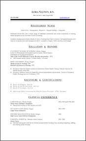 Sample Resume Of Registered Nurse by New Registered Nurse Resume Sample Sample Of New Grad Nursing New