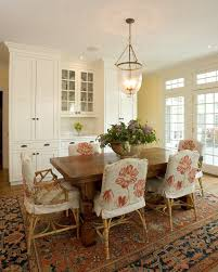 Dining Room Chair Cover Ideas Baroque Chair Slipcover In Dining Room Traditional With Sunbrella