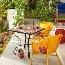 Casbah Yellow Stacking Chair Pier  Imports - Yellow patio furniture