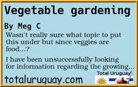 forum post vegetable gardening total uruguay