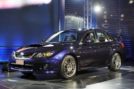 the subaru wrx web site main page