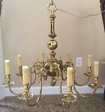 Aged Brass Chandelier Colonial Brass Chandelier Ebay