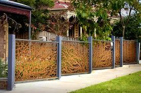garden fence panels metal home outdoor decoration