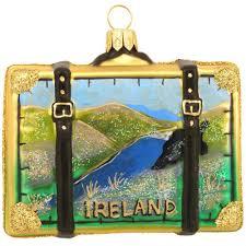 ireland glass suitcase ornament bronner s