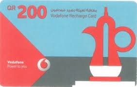 buy prepaid card online buy vodafone 200 qar mobile prepaid recharge card online